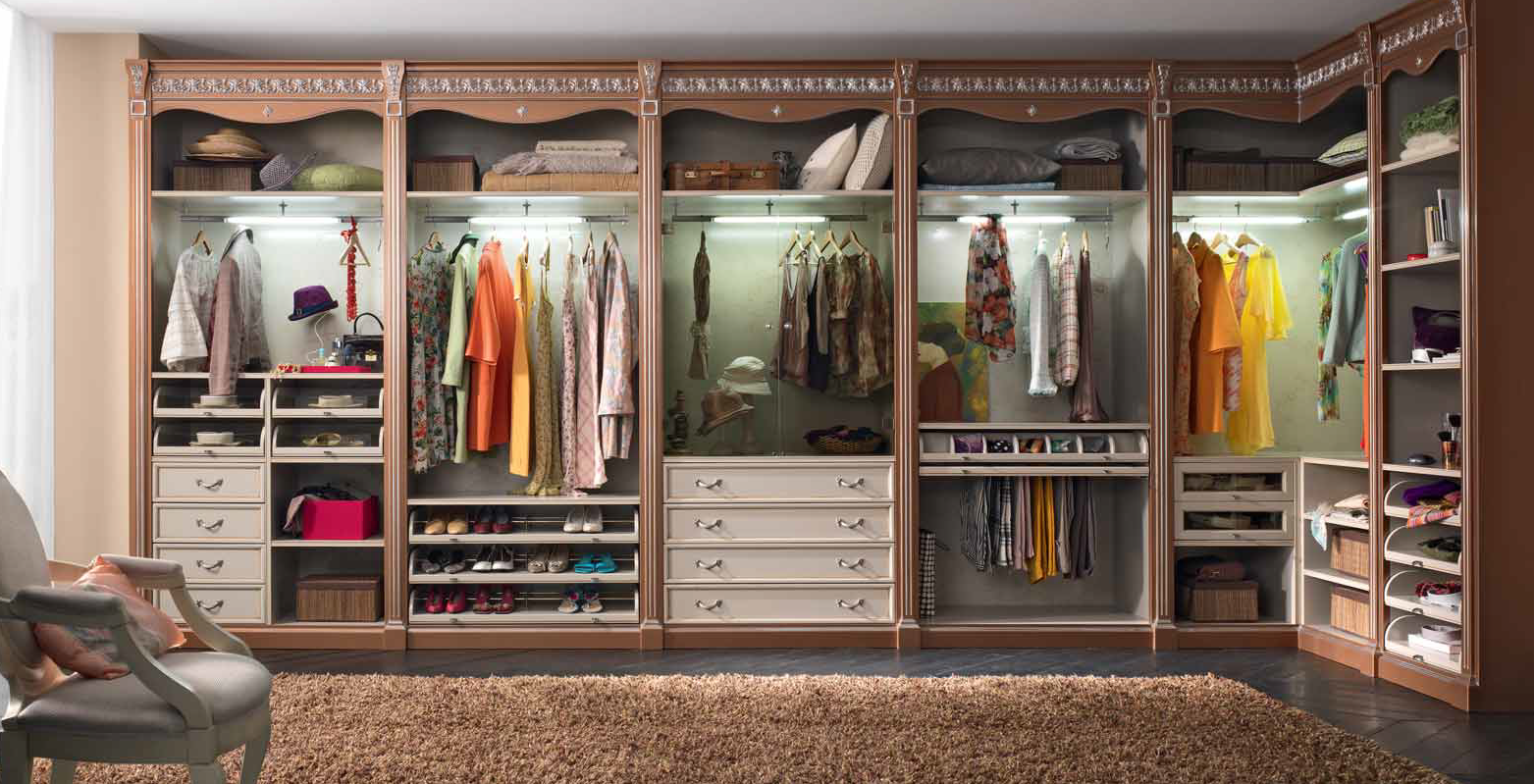 Идеи для гардеробных комнат.
